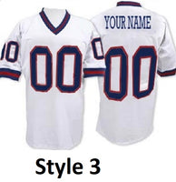 New York Giants Style Customizable Throwback Football Jersey