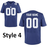 New York Giants Style Customizable Throwback Jersey