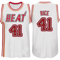 Glen Rice White Miami Heat Throwback Basketball Jersey