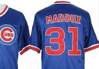 Greg Maddux Blue Chicago Cubs Throwback Jersey