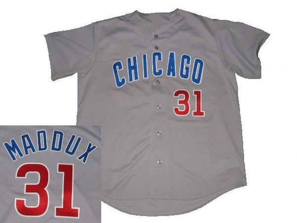 Greg Maddux Chicago Cubs Gray Road Jersey