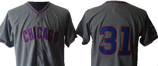 Greg Maddux Chicago Cubs Vintage Style Throwback Jersey