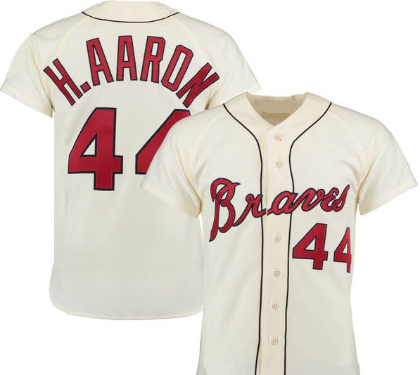 Hank Aaron 1963 Milwaukee Braves Throwback Jersey