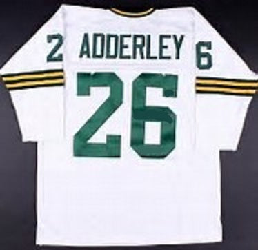 quality design 9683f 085d8 Herb Adderley Green Bay Packers Long Sleeve Throwback Football Jersey