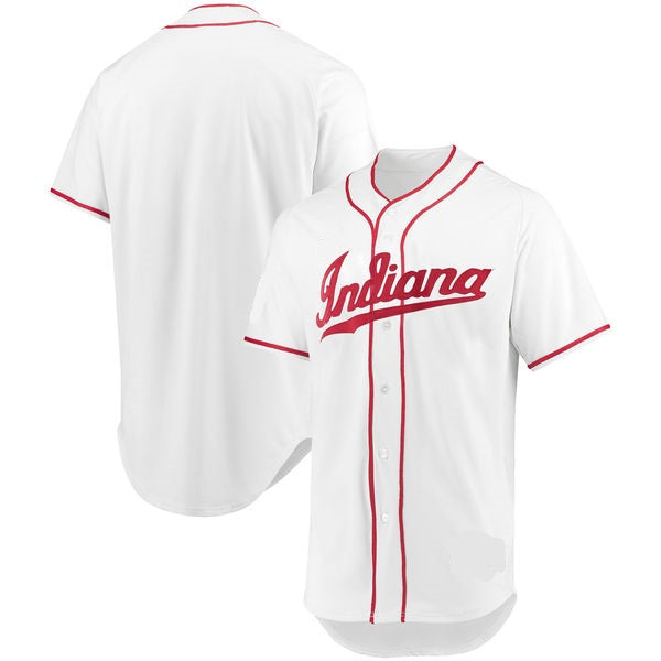 Indiana Hoosiers Customizable Baseball Jersey