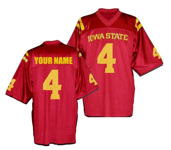 Iowa State Cyclones Customizable Football Jersey