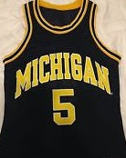 Jalen Rose Michigan Wolverines College Basketball Jersey