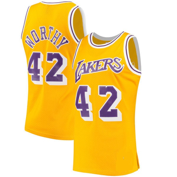 James Worthy Los Angeles Lakers Basketball Jersey