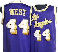 Jerry West Purple Los Angeles Lakers Jersey