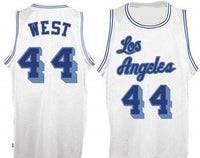 Jerry West White Los Angeles Lakers Throwback Jersey