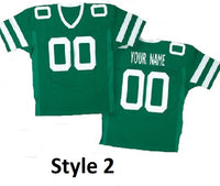 New York Jets Style Customizable Football Throwback Jersey