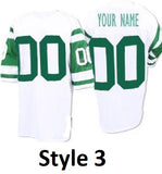 New York Jets Style Customizable Throwback Football Jersey