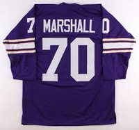 Jim Marshall Minnesota Vikings Long Sleeve Throwback Jersey