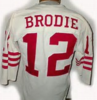 promo code 0a462 0ffcd John Brodie San Francisco 49ers Throwback Football Jersey