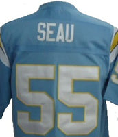 Junior Seau San Diego Chargers Throwback Football Jersey