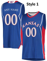 Kansas Jayhawks Style Customizable College Basketball Jersey