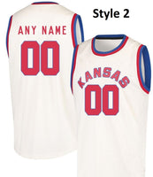 Kansas Jayhawks Style Customizable Basketball Jersey
