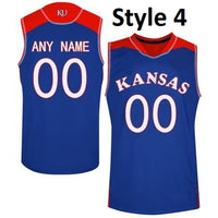 Kansas Jayhawks Customizable Basketball Jersey