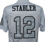 Ken Stabler Oakland Raiders Throwback Football Jersey