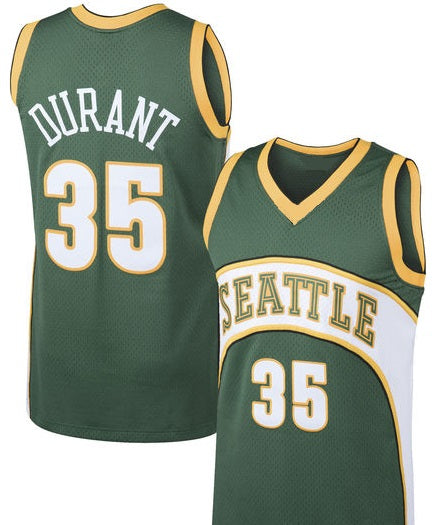 Kevin Durant Seattle SuperSonics 2007-08 Throwback Basketball Jersey