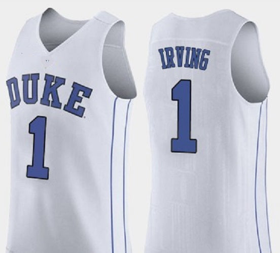 detailed look d4fac 61277 Kyrie Irving Duke Blue Devils College Basketball Throwback Jersey