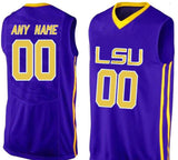 LSU Tigers Style Customizable College Basketball Jersey