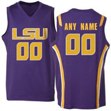 LSU Tigers Customizable College Basketball Jersey