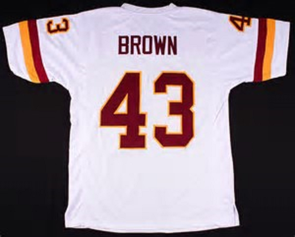 official photos 11af2 10ba4 Larry Brown Washington Redskins Throwback Football Jersey