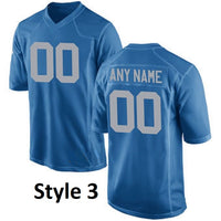 Detroit Lions Customizable Pro Style Football Jersey