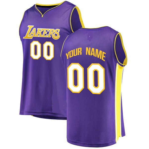 Customizable Los Angeles Lakers Pro Style Basketball Jersey