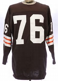 Lou Groza Cleveland Browns Long Sleeve Vintage Style Jersey