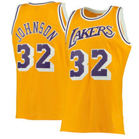 Magic Johnson Los Angeles Lakers Gold 1984-85 Throwback Jersey