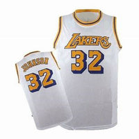 Magic Johnson White Los Angeles Lakers Throwback Jersey