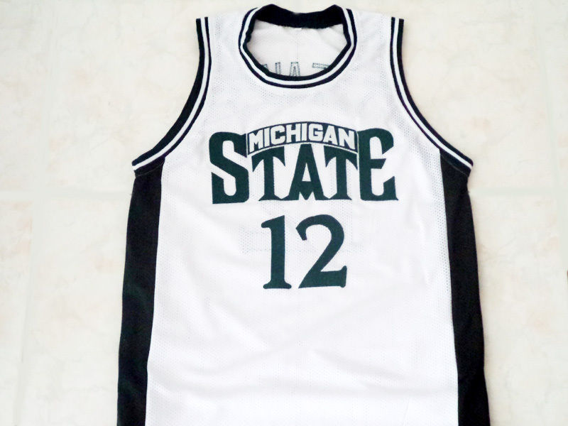 hot sale online 9723a 87acc Mateen Cleaves Michigan State Spartans College Basketball Throwback Jersey