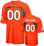 Miami Hurricanes Customizable Football Jersey