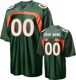 Miami Hurricanes Customizable College Jersey
