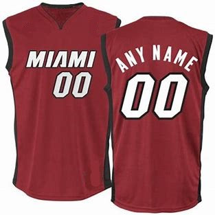 Miami Heat Customizable Basketball Jersey