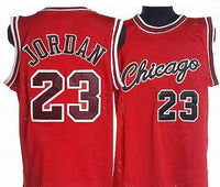 Michael Jordan Red Chicago Bulls Throwback Basketball Jersey