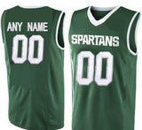 Customizable Michigan State Spartans College Style Basketball Jersey