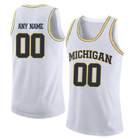 Michigan Wolverines Customizable Basketball Jersey