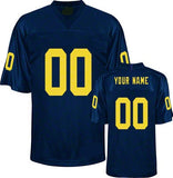 Michigan Wolverines Customizable College  Football Jersey