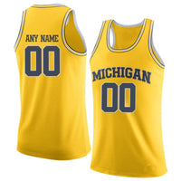 Michigan Wolverines Customizable College Basketball Jersey