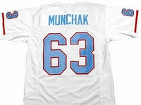 Mike Munchak Houston Oilers Throwback Football Jersey