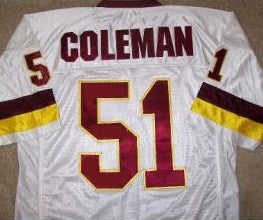 Monte Coleman Washington Redskins Throwback Jersey