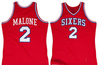 Moses Malone Philadelphia 76ers 1982-1983 Throwback Jersey