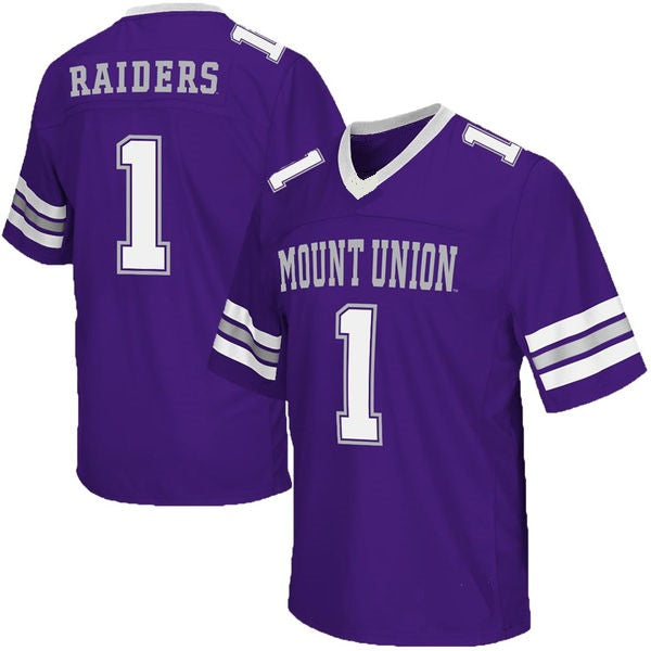 Customizable Mount Union Purple Raiders Style Football Jersey