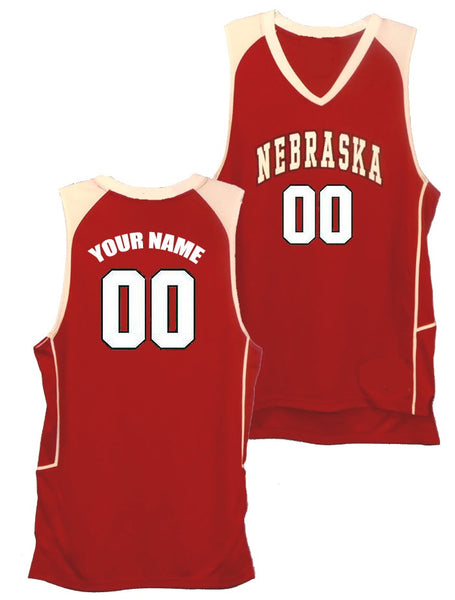Nebraska Cornhuskers Style Customizable Basketball Jersey