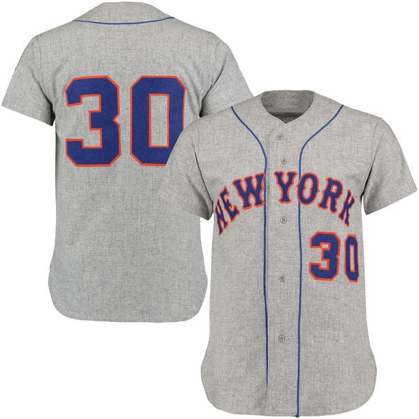 Nolan Ryan 1969 New York Mets Gray Road Jersey