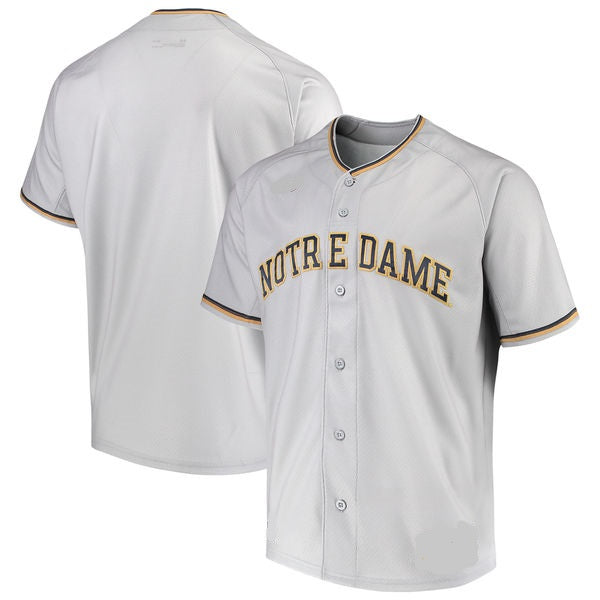 Notre Dame Fighting Irish Customizable Baseball Jersey