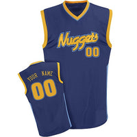 Denver Nuggets Style Customizable Basketball Jersey